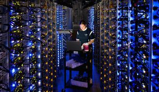 Google's data centers in Oregon and elsewhere process hundreds of millions of searches that Internet users make each day. Such centers also store email, photos, video, calendar entries and other information that may not be as secure as users believe because of encryption subversion. (Google via Associated Press)