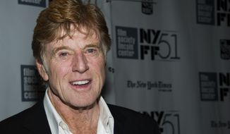 """Actor-director Robert Redford attends the New York Film Festival screening of """"All Is Lost"""" on Tuesday, Oct. 8, 2013, in New York. (Charles Sykes/Invision/AP)"""