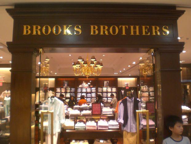 A Brooks Brothers retail clothing establishment.