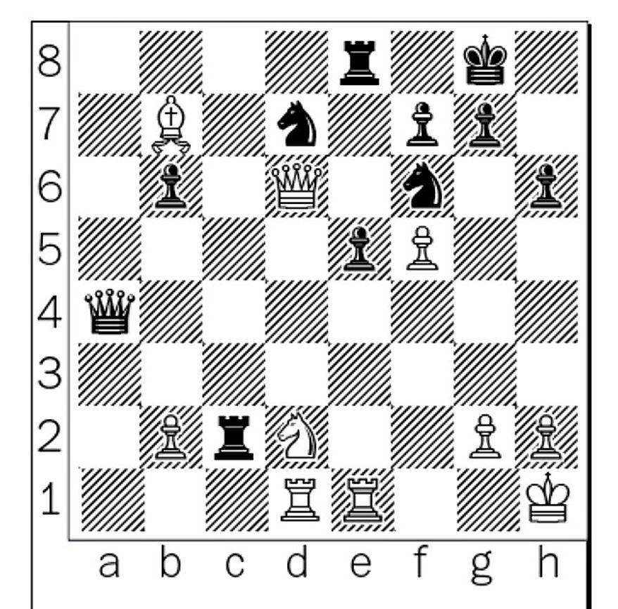 Polgar-Kasparov after 36. Nd2.