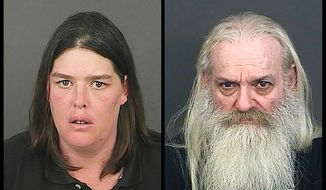 This photo combo of photos provided by the Office of the Denver District Attorney's Office shows Lorinda Bailey, left, and Wayne Sperling. Bailey and Sperling, the Denver couple accused of starving their four young sons and keeping them in a filthy apartment strewn with cat feces, urine and flies, made their first court appearance Tuesday, Oct. 8, 2013, and were advised of the felony child abuse charges against them. (AP Photo/Denver District Arttorney's Office)