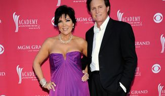 ** FILE ** This April 5, 2009, file photo shows Kris Jenner, left, and her husband Bruce Jenner at the 44th Annual Academy of Country Music Awards in Las Vegas. The celebrity couple have confirmed they separated a year ago, after 22 years together. (AP Photo/Dan Steinberg, File)