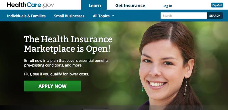Screen shot of HealthCare.gov