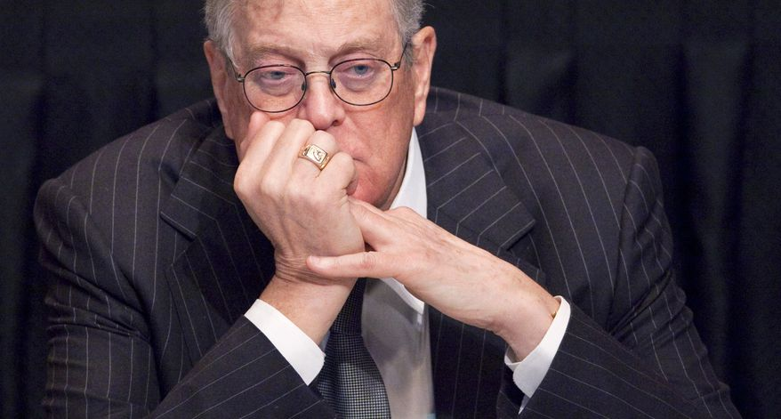 **FILE** David Koch, executive vice president of Koch Industries, attends a meeting of the Economic Club of New York on April 11, 2011. (Associated Press)
