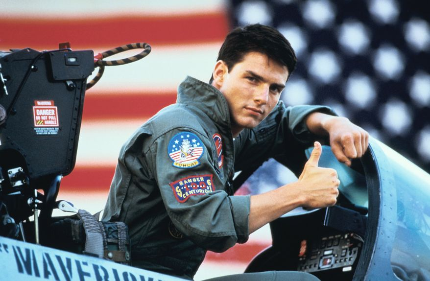 "Top Gun topped the charts in 1986 as Tom Cruise's ""Maverick"" felt the need for speed in the cockpit of a Navy F-14 Tomcat."
