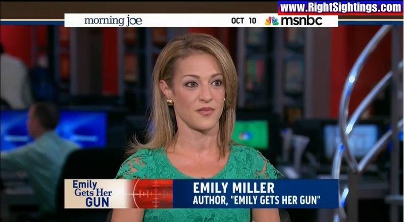 "Emily Miller on MSNBC ""Morning Joe"" on October 10, 2013."