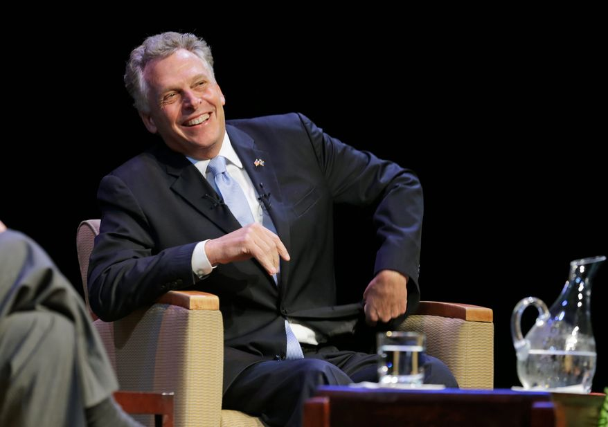 The campaign of businessman and former Democratic National Committee Chairman Terry McAuliffe claims it has collected more than 21,000 signatures on an online petition against a purge up to 57,000 registered voters from the Virginia rolls. (Associated Press)