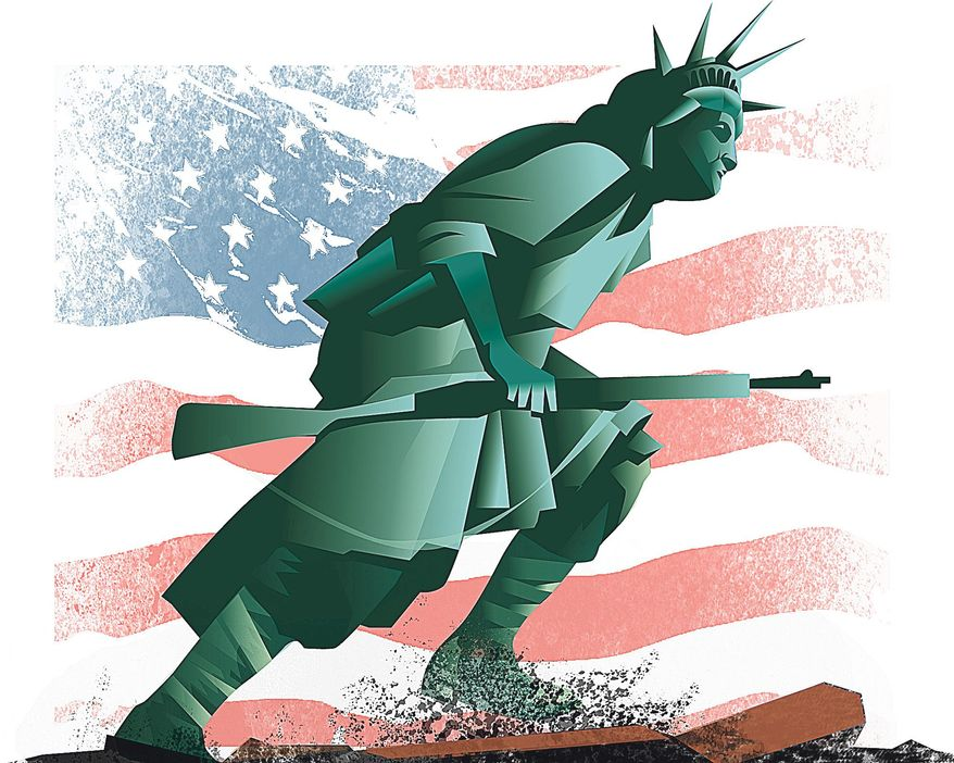 Illustration by Linus Garsys for The Washington Times