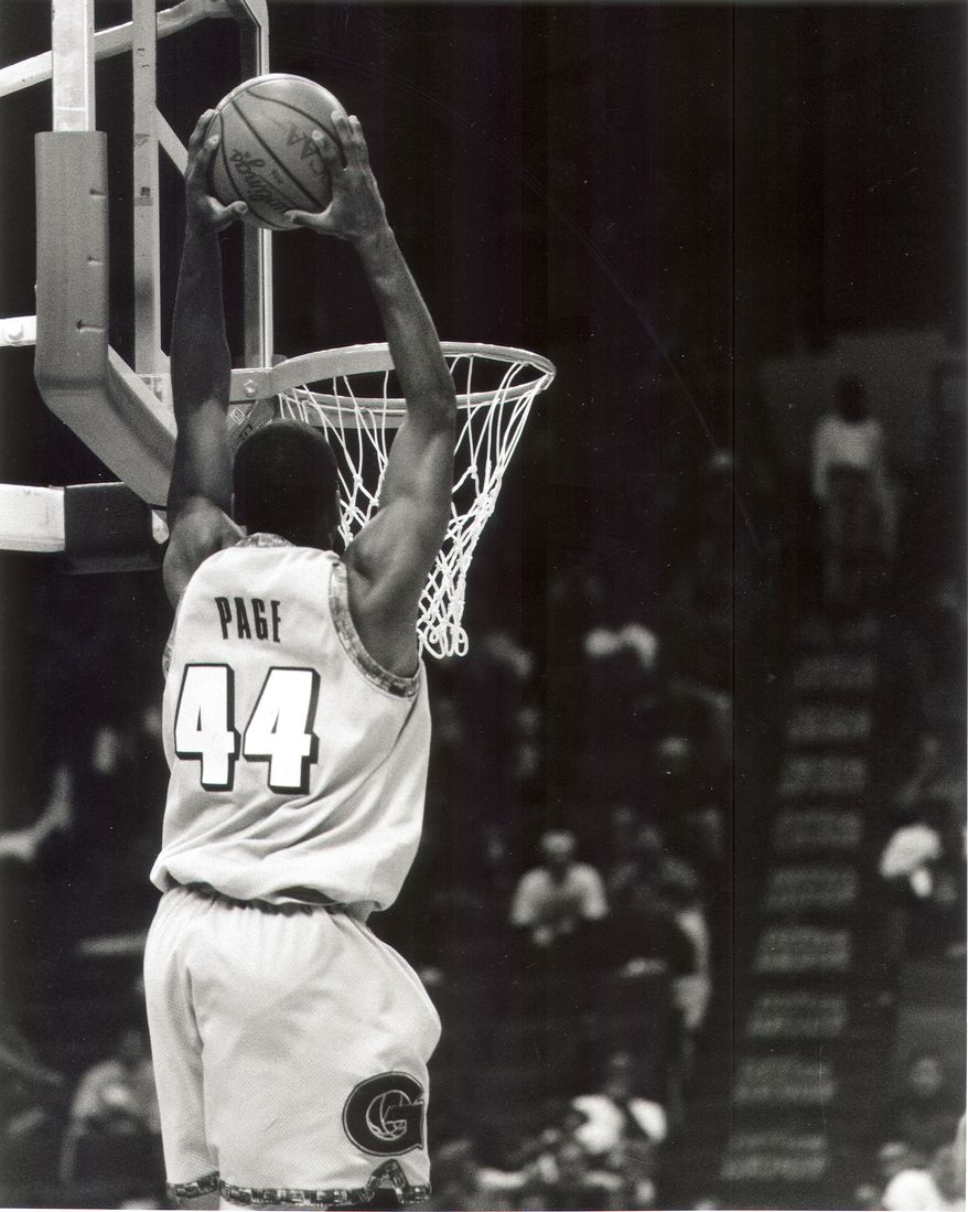 **FILE** Former Georgetown star Victor Page led the Big East in scoring in 1996-97. He's currently serving a 10-year jail sentence in Prince George's County.