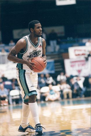 **FILE** Former Georgetown star Victor Page averaged 15.8 points per game in with the Sioux Falls Skyforce of the NBA Developmental League from 1997-2002. Page currently is serving a 10-year jail sentence in Prince George's County, Md. (Sioux Falls Skyforce)