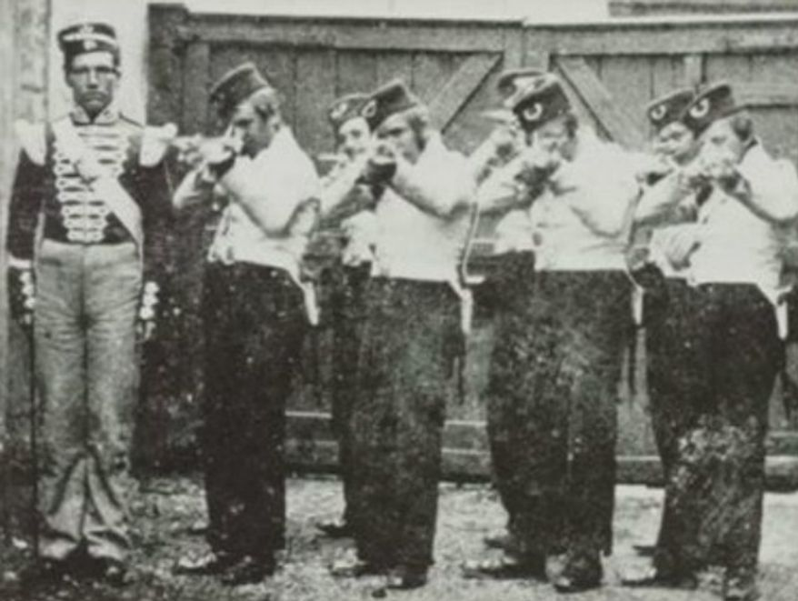 A firing squad featured in an ATF training manual.