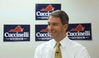 """The truth is our friend,"" Kenneth T. Cuccinelli II, Virginia's attorney general and Republican candidate for governor, says of his optimism that he can close the polling gap with Democrat Terry McAuliffe before Election Day. (Andrew S. Geraci/The Washington Times)"