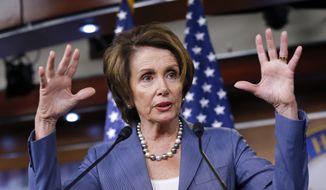 House Minority Leader Nancy Pelosi, California Democrat. (Associated Press) ** FILE **
