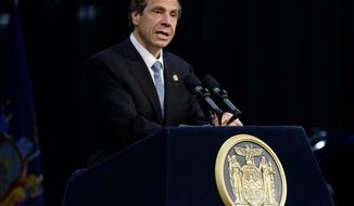 "New York Gov. Andrew Cuomo has the support of labor unions and business groups for Proposal 1, which would allow for seven full-service casinos, or what he calls ""resort destinations and conference centers."" (associated press)"