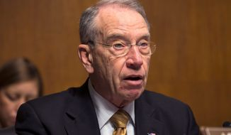 "Sen. Chuck Grassley, Iowa Republican, said the loophole in the farm subsidy program ""has been allowed to stand for too long"" and that it is time to close it. (ASSOCIATED PRESS)"