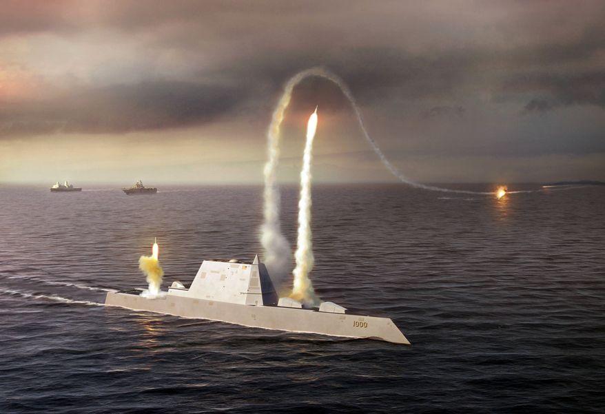 A rendering of the DDG-1000 Zumwalt, the U.S. Navy's next-generation destroyer.