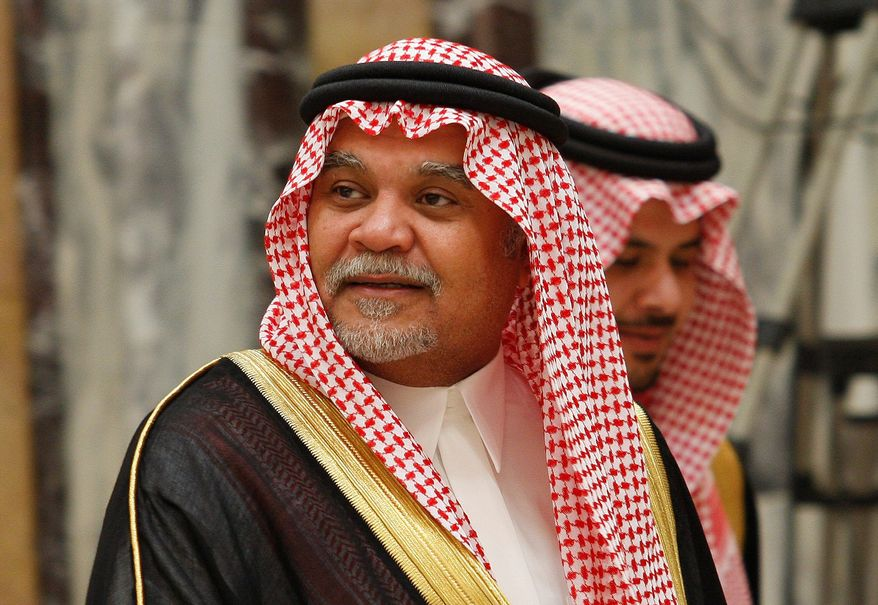 Saudi Prince Bandar bin Sultan has begun to speak publicly about his nation's frustrations with overall U.S. policy in the Middle East and in regards to Syria in particular. The U.S. has acknowledged the kingdom's discontent but is downplaying it. (ASSOCIATED PRESS PHOTOGRAPHS)