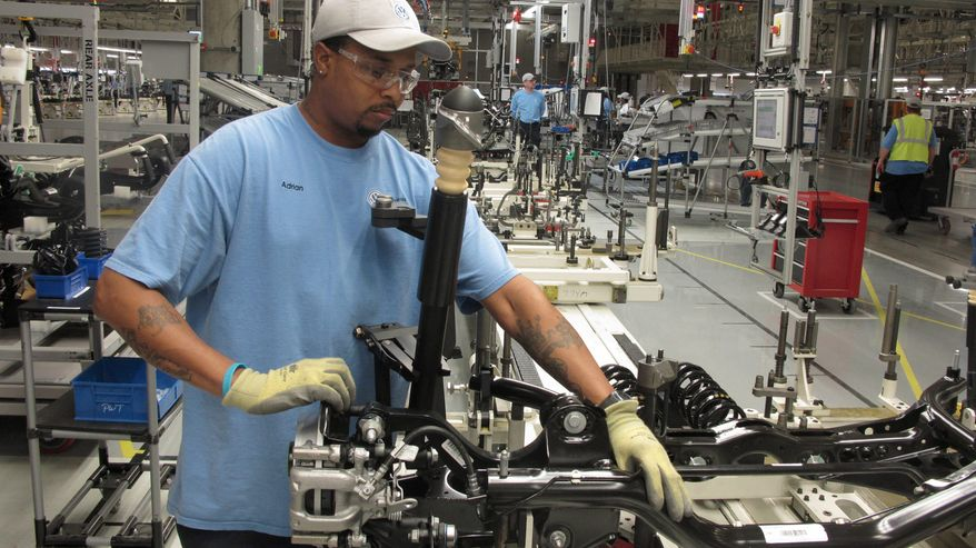 POWER: Adrian Leslie and other employees at Volkswagen's new plant in Chattanooga, Tenn., could help determine the future of the UAW. (Associated Press)