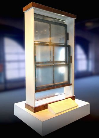 "The Texas School Book Depository window Lee Harvey Oswald shot from is among the ""Kennedy assassination items"" going up for bid on Thursday. (rr auctions)"