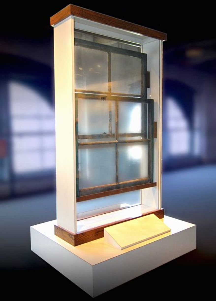 """The Texas School Book Depository window Lee Harvey Oswald shot from is among the """"Kennedy assassination items"""" going up for bid on Thursday. (rr auctions)"""