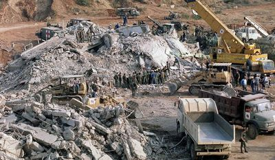 The truck bombing of a U.S. Marine base near the Beirut airport on Oct. 23, 1983, was the worst terror attack on Americans until Sept. 11, 2001. (AP Photo)
