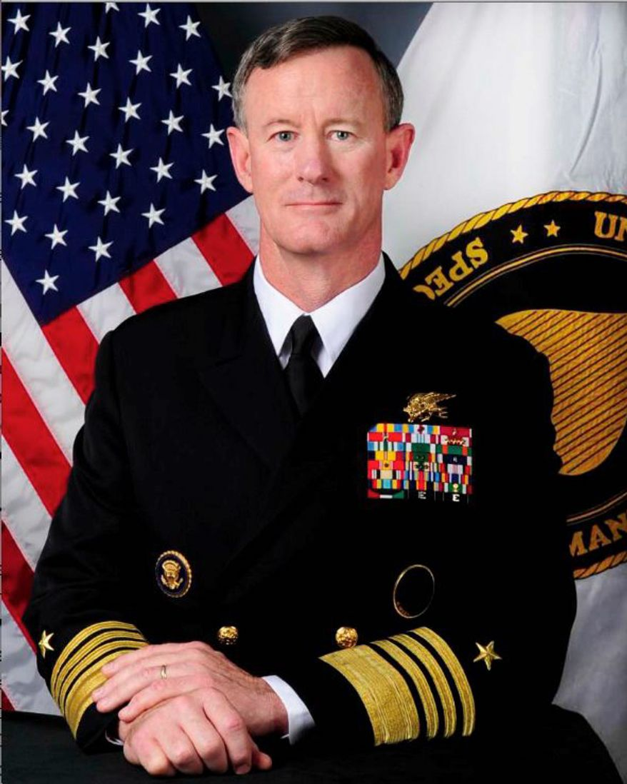 The annual OSS Society Awards Dinner on Saturday will honor Admiral William H. McRaven, commander of U.S. Special Operations Command. (U.S. Navy)