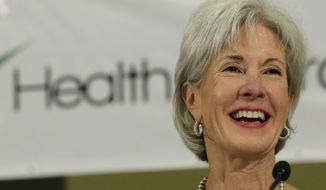 ** FILE ** Health and Human Services Secretary Kathleen Sebelius sits on a panel to answer questions about the Affordable Care Act enrollment, Friday, Oct. 25, 2013, in San Antonio. (AP Photo/Eric Gay)
