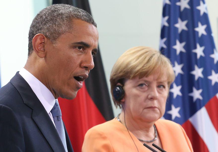 President Obama and German Chancellor Angela Merkel (Associated Press/File)