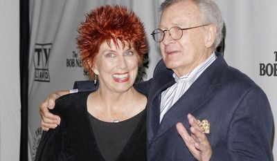"""Actress Marcia Wallace and actor Bill Daily arrive for TV Land's 35th-anniversary tribute to """"The Bob Newhart Show"""" in Beverly Hills, Calif., on Wednesday, Sept. 5, 2007. Miss Wallace, who played a receptionist on the show, as well as voicing the role of Edna Krabappel on the animated """"The Simpsons,"""" has died at age 70. (AP Photo/Mark J. Terrill)"""
