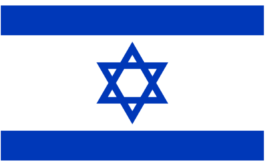 The flag of Israel (Wikipedia)
