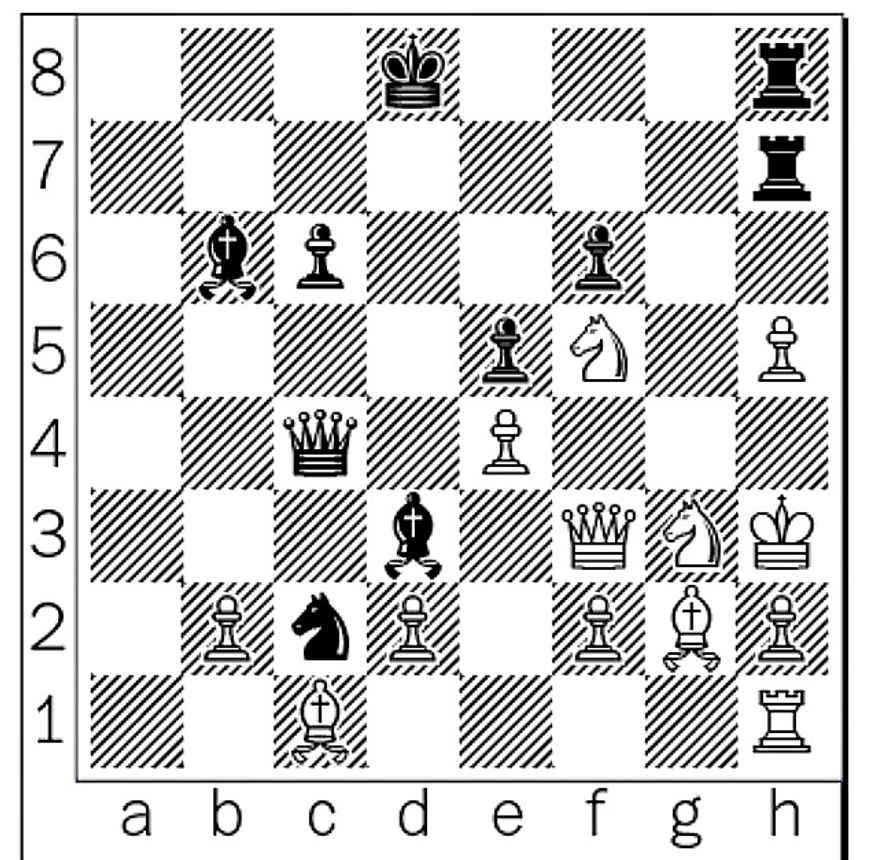 Morozevich-Laznicka after 33...Qc4.