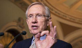 Senate Majority Leader Harry Reid, Nevada Democrat (AP Photo/J. Scott Applewhite)