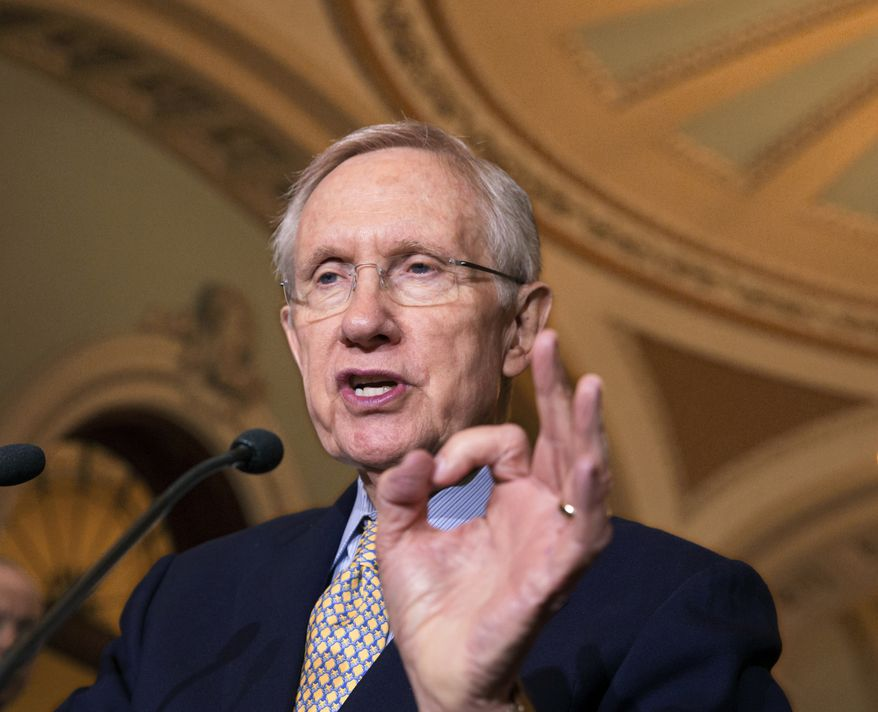 Senate Majority Leader Harry Reid, Nevada Democrat (AP Photo/J. Scott Applewhite)