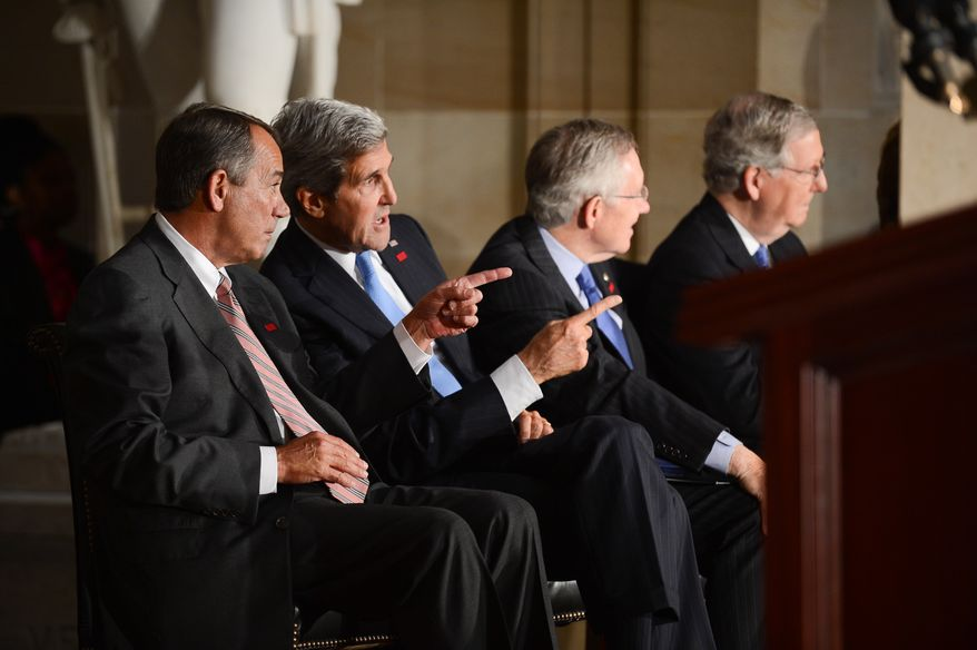 Left to right: House Speaker John Boehner (R-Ohio), 
