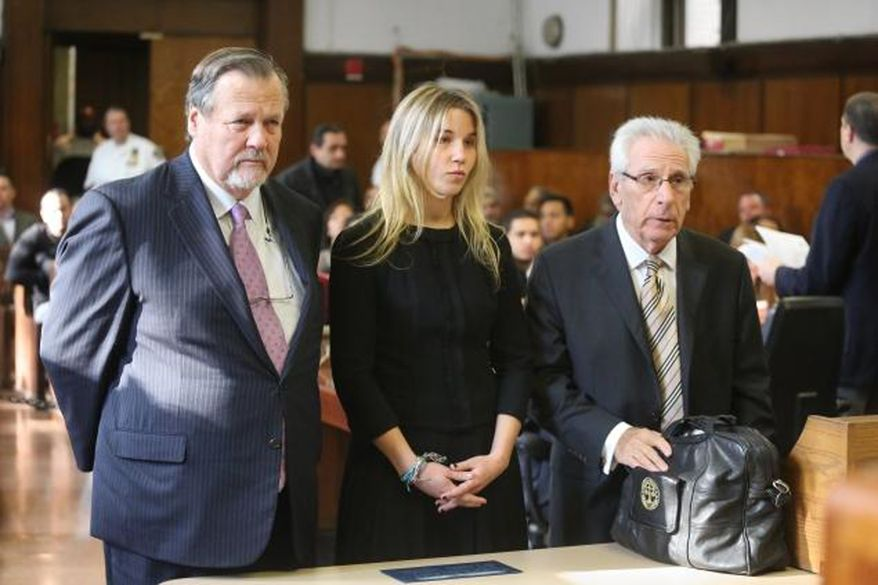 Caroline Biden appears in Manhattan Criminal Court on Tuesday, Oct. 29, 2013. (POOL PHOTO)