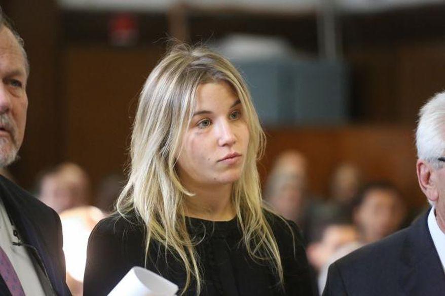 Caroline Biden appears in Manhattan Criminal Court. (POOL PHOTO)