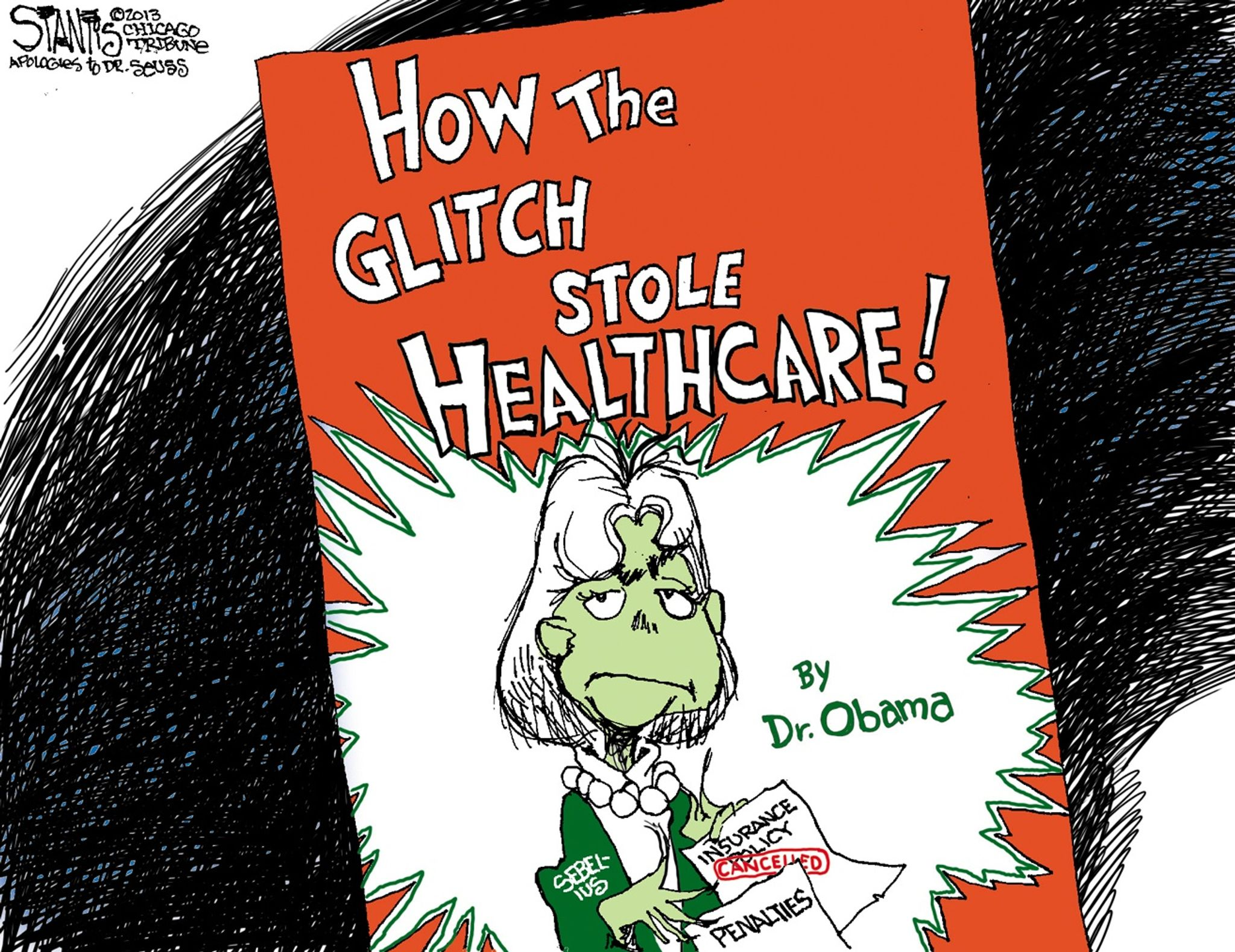 Political Cartoons Obamacare How The Grinch Stole Healthcare Washington Times