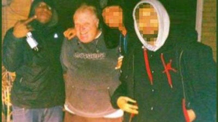 Toronto Mayor Rob Ford (center) from the video where he was allegedly seen smoking crack.