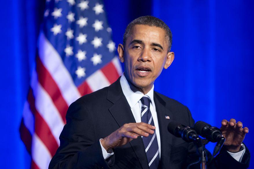 President Barack Obama speaks at an Organizing for Action event in Washington, Monday, Nov. 4, 2013.  (AP Photo/Manuel Balce Ceneta)