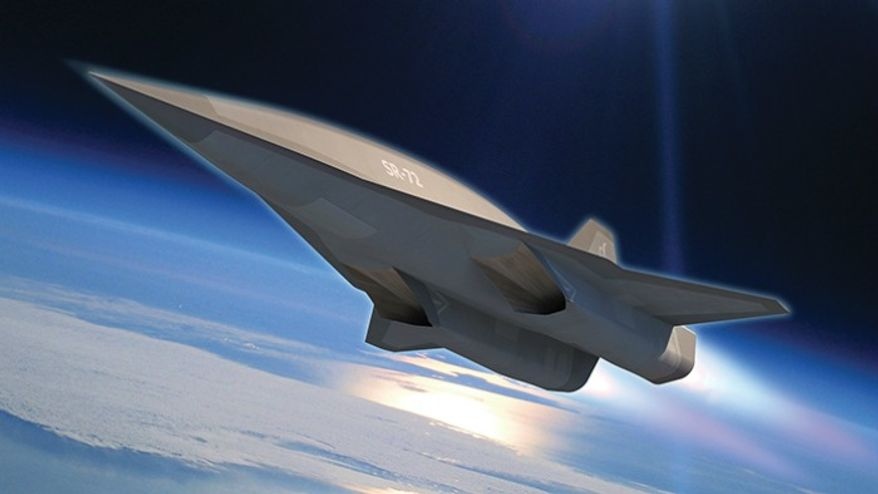 A rendering of Lockheed Martin Corp.'s SR-72, the planned successor to the U.S. Air Force's famous SR-71 Blackbird (Lockheed Martin)