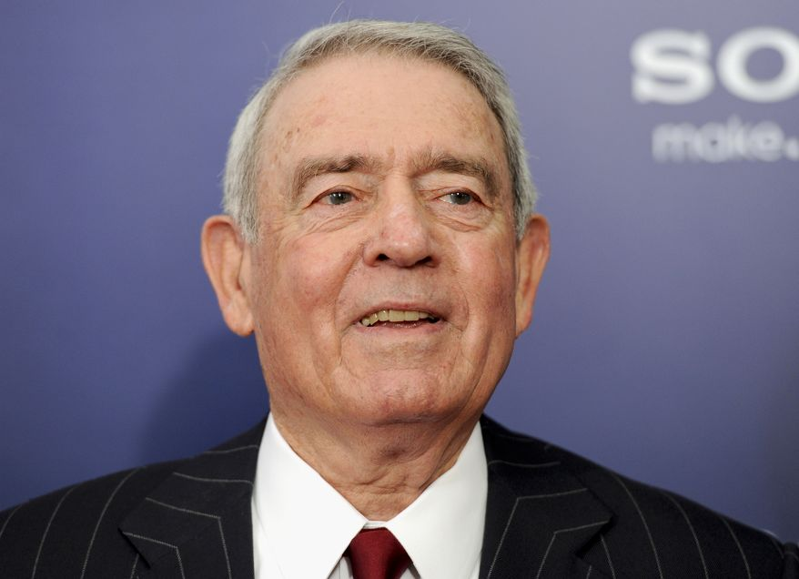 """Longtime broadcast journalist Dan Rather attends the premiere of """"The Ides of March"""" in New York on Oct. 5, 2011. (AP Photo/Evan Agostini)"""