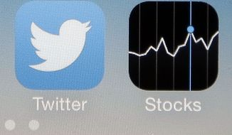 In this Nov. 4, 2013, photo, the Twitter app is shown on an iPhone 4s in San Jose, Calif. As it nears its IPO, bulls and bears on Twitter appear divided less by their analysis of the company and more on their attitudes toward investing. (AP Photo/Marcio Jose Sanchez)
