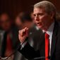 """My amendment prohibits the government from punishing a religious institution  and thereby seeks to keep the state from interfering in matters of faith,"" Sen. Rob Portman, Ohio Republican says of the ENDA bill. (ASSOCIATED PRESS)"