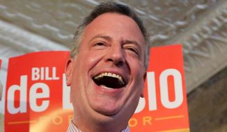 Bill de Blasio     Associated Press photo