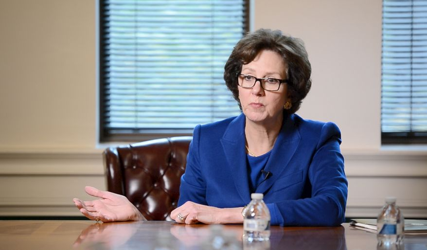 Texas Comptroller Susan Combs at The Washington Times Newsmaker meeting.