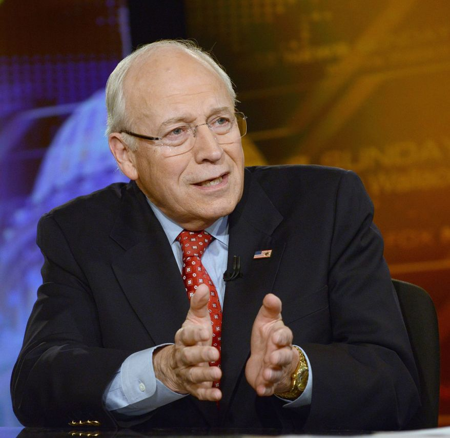 "Former Vice President Dick Cheney speaks on ""Fox News Sunday"" on June 16, 2013. (Associated Press/Fox News) **FILE**"