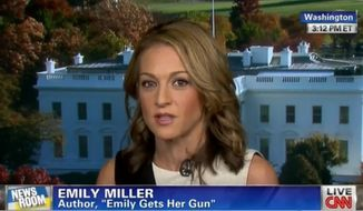 Emily Miller on CNN. Nov. 8, 2013.