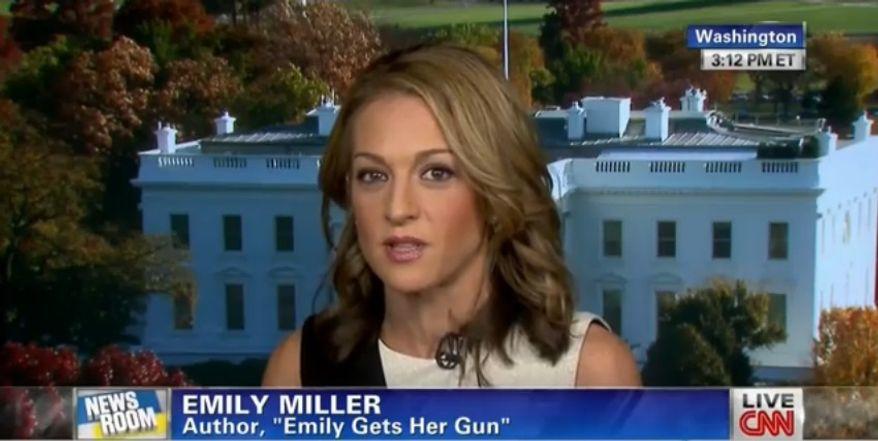 Emily Miller on CNN. Nov. 8, 2013.
