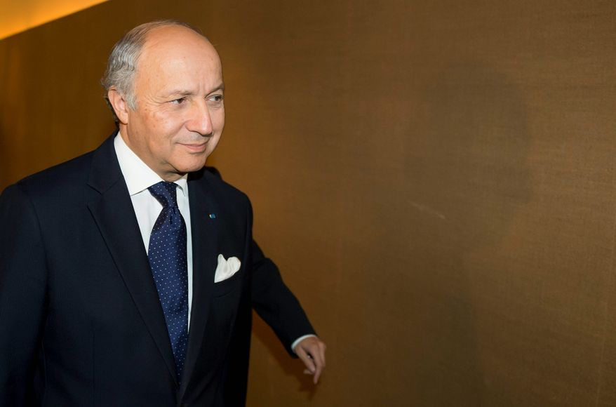 French Foreign Minister Laurent Fabius scuttles a deal pushed by the U.S. and other Western nations to get Iran to freeze its uranium enrichment in exchange for easing some crippling economic sanctions. (Associated Press)