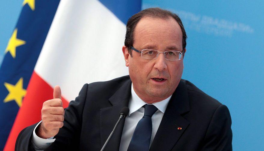 French President Francois Hollande            Asssociated Press photo